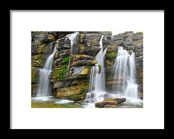 Falls Framed Print featuring the photograph Flow by Ronald Monong
