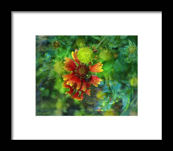 J Larry Walker Framed Print featuring the digital art Flower Abstract by J Larry Walker
