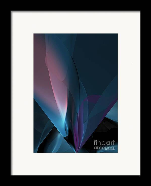Abstract Framed Print featuring the painting Flower And Light by Christian Simonian