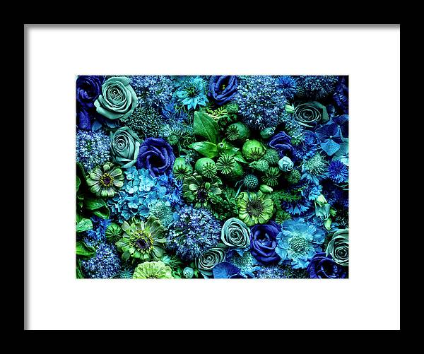 Simplicity Framed Print featuring the photograph Flower Arrangment, Full Frame by Jonathan Knowles