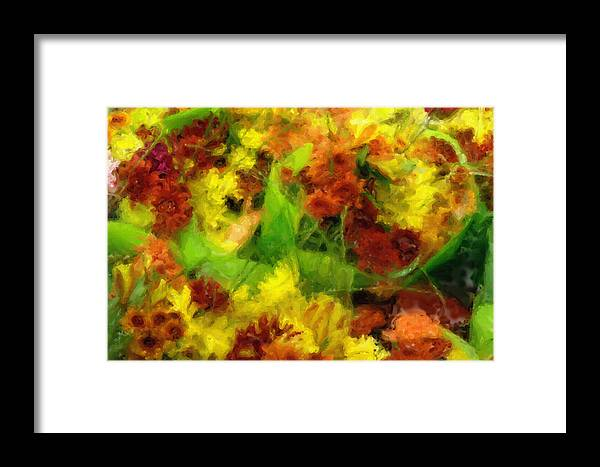 Flower Framed Print featuring the painting Flower Carnival by Inspirowl Design