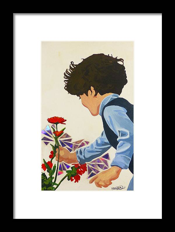 Hanzer Art Framed Print featuring the painting Flower Child by Jack Hanzer Susco