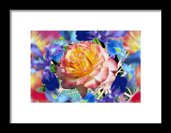 Flowers Framed Print featuring the digital art Flower Dance 2 by Lisa Yount
