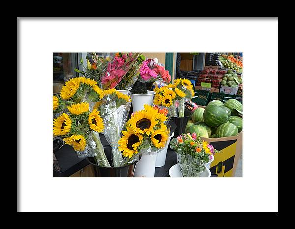 Flowers Framed Print featuring the photograph Flower Market by Mike Hinton