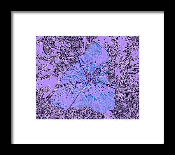 Celebrate Framed Print featuring the digital art Flower of Purple by Sergey Bezhinets