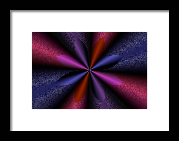 Digital Art Framed Print featuring the digital art Flowerage by Atanas Atanassov