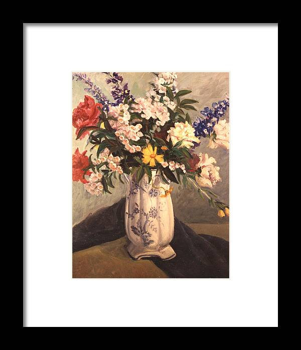 Flowers Framed Print featuring the painting Floral 2 by Joan Columbus