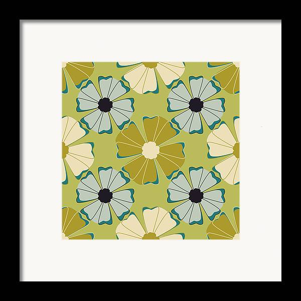 Posters Framed Print featuring the digital art Flowers 3 by Lisa Noneman