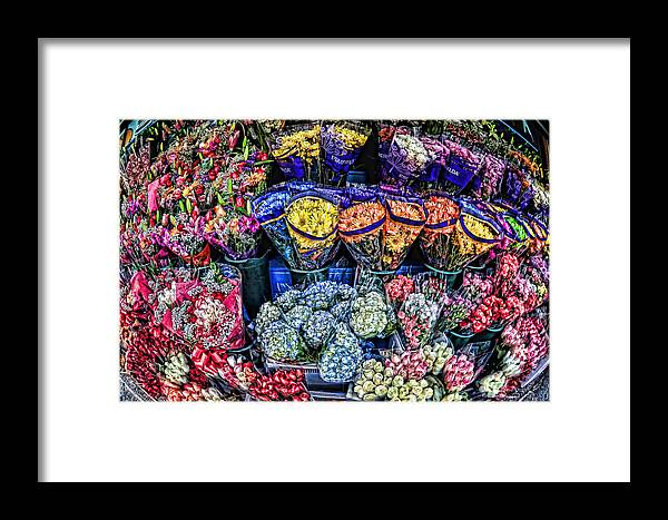 Flowers Framed Print featuring the photograph Flowers Galore by Tina Baxter