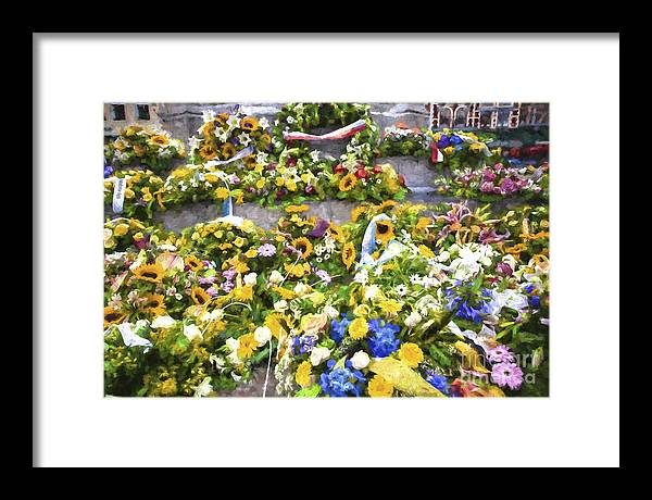 Brugge Framed Print featuring the photograph Flowers in Brugge by Sheila Smart Fine Art Photography