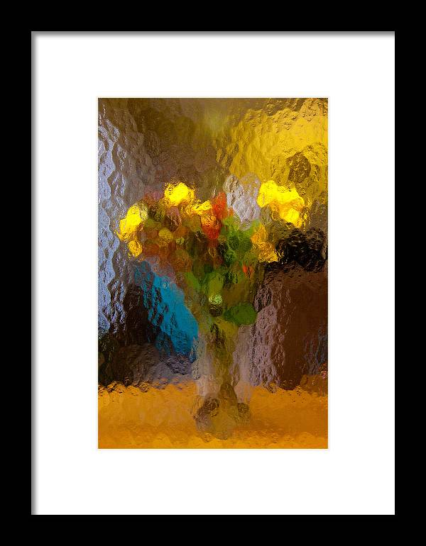 Still Framed Print featuring the photograph Flowers In Vase - Still Life by Frank Tozier