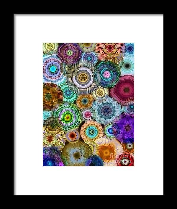 Flowery Framed Print featuring the digital art Flowery Meadow 3 by Klara Acel