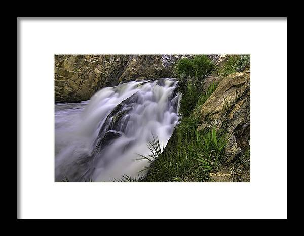 Waterfalls Framed Print featuring the photograph Flowing Glow by Bill Sherrell