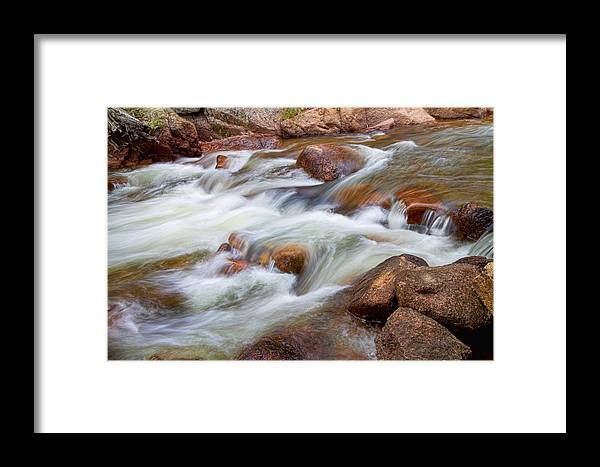 Outdoors Framed Print featuring the photograph Flowing St Vrian Creek  by James BO Insogna