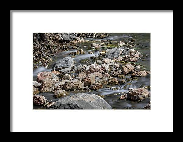 Verde River Framed Print featuring the photograph Flowing Verde by Aaron Burrows