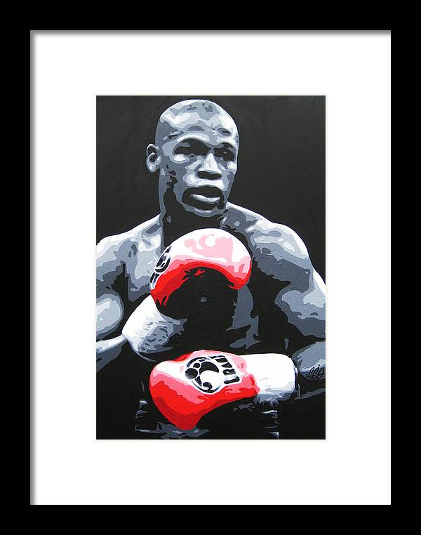 Mayweather Framed Print featuring the painting Floyd Mayweather by Geo Thomson