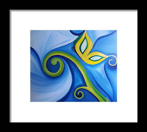 Original Oil Painting Framed Print featuring the painting 'flutter' by Shannon Keavy
