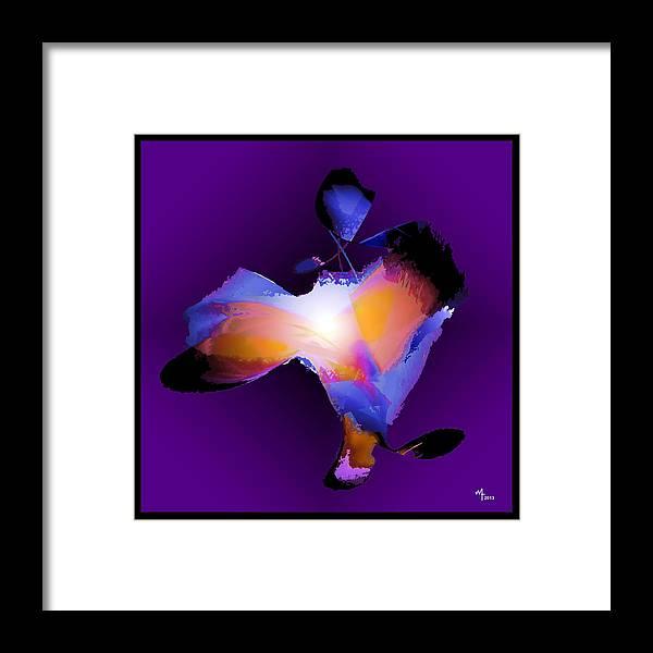 Abstract Figure Framed Print featuring the digital art Flutters 2 by Warren Furman