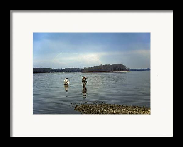 Fly Fishing Framed Print featuring the photograph Fly Fishing by Steven Michael