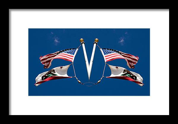 Us Flag Framed Print featuring the photograph Fly Your Way 2013 by James Warren