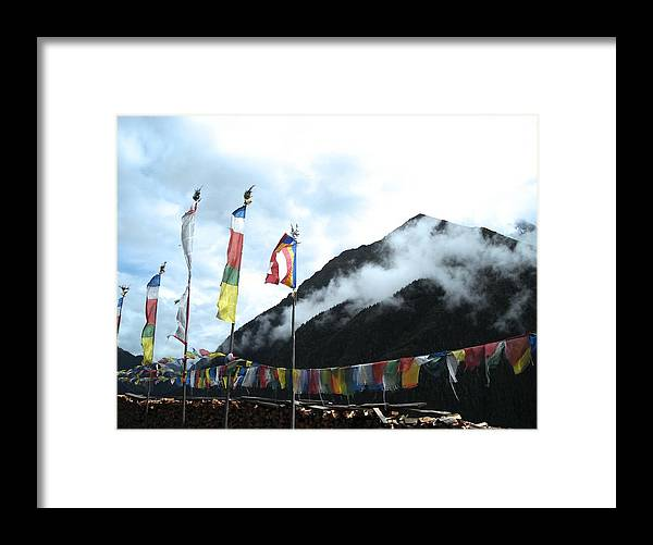Flags Framed Print featuring the photograph Flying by Christopher Easthall