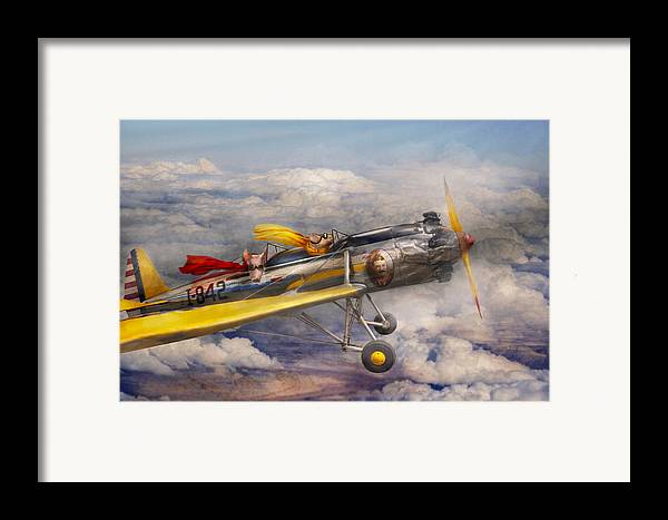 Pig Framed Print featuring the photograph Flying Pig - Plane - The Joy Ride by Mike Savad