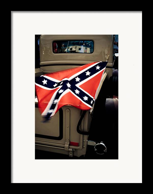 Confederate Flag Framed Print featuring the photograph Flying The Flag by Phil 'motography' Clark