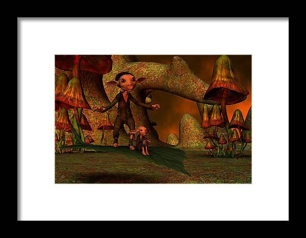 Flying Framed Print featuring the digital art Flying Through A Wonderland by Gabiw Art