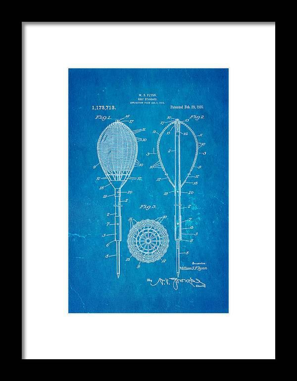 00aff13697d80 Flynn Merion Golf Club Wicker Baskets Patent Art 1916 Blueprint Framed Print
