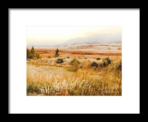 Landscape Framed Print featuring the photograph Fog Across The Valley by Robert Kleppin