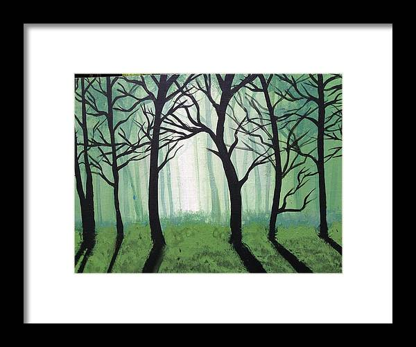 Framed Print featuring the painting Fog by Brandon Lovell