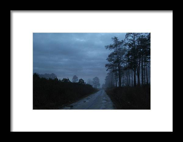 Foggy Scenes Framed Print featuring the photograph Fog Settling In by Richard Clark