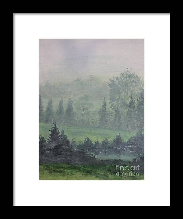 Painting Framed Print featuring the painting Foggy Bottom Tennessee by Dana Carroll