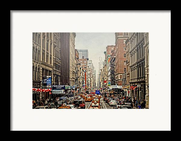 Nyc Framed Print featuring the photograph Foggy Day In The City by Kathy Jennings