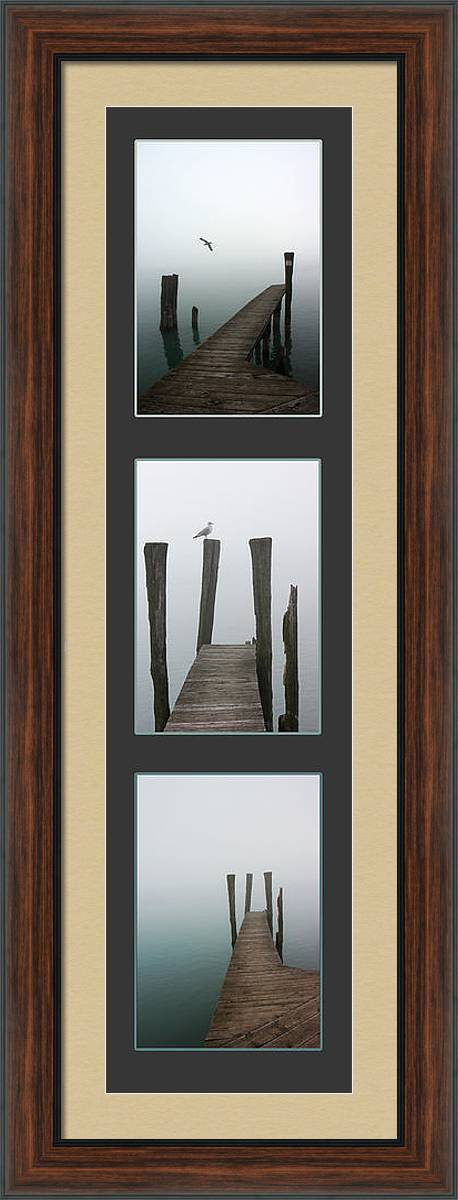 Foggy Dock Collage 2 by Mary Bedy