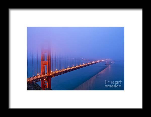 San Francisco Framed Print featuring the photograph Foggy Golden Gate Bridge by Mel Ashar
