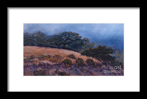 Landscape Framed Print featuring the painting Foggy Oasis - Pch by Betsee Talavera