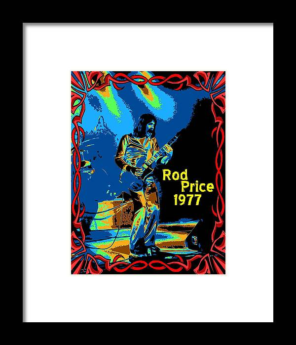 Rod Price Framed Print featuring the photograph Foghat In Spokane 1977 by Ben Upham