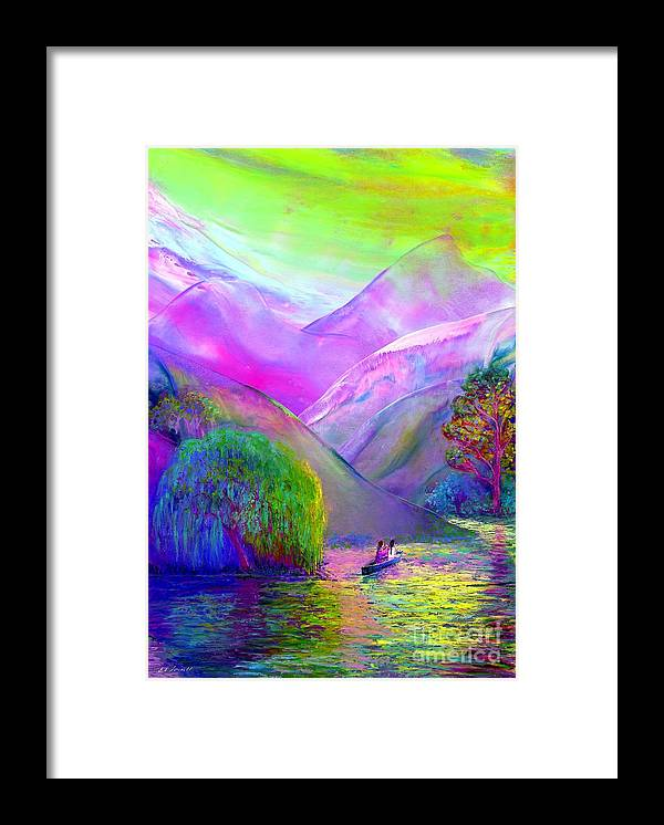 Love Framed Print featuring the painting Love is Following the Flow Together by Jane Small
