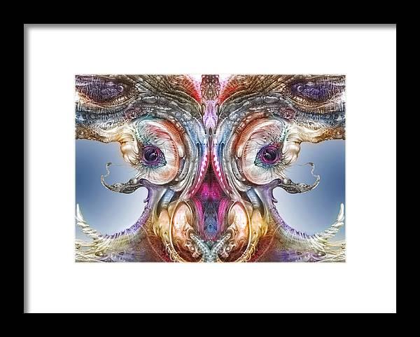 Otto Rapp Framed Print featuring the digital art Fomorii Incubator Remix by Otto Rapp