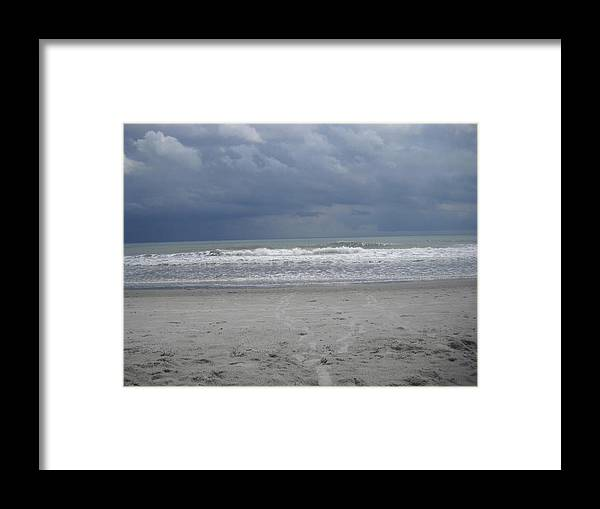 Framed Print featuring the photograph Foot Steps by Vennie Deas Moore