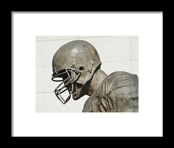 Statue Framed Print featuring the photograph Football Memories by Laura Lindley