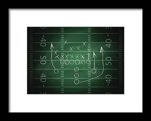 Plan Framed Print featuring the digital art Football Play by Traffic analyzer