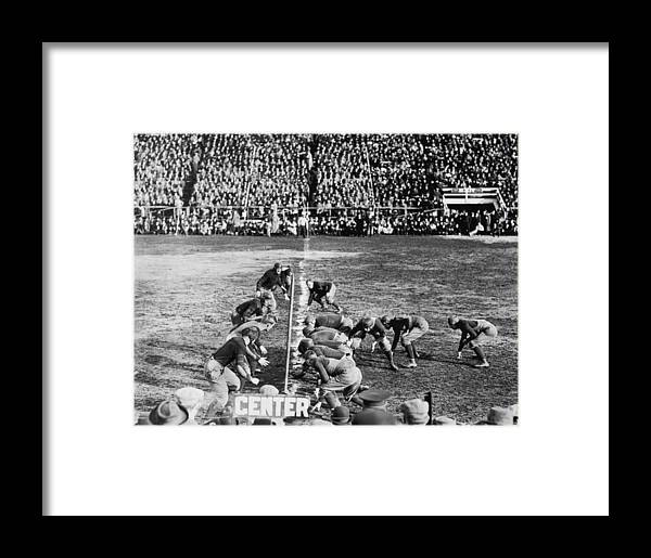 1910's Framed Print featuring the photograph Football Teams Lined Up by Underwood Archives