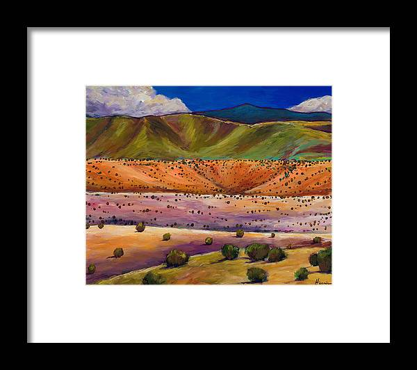 New Mexico Framed Print featuring the painting Foothill Approach by Johnathan Harris