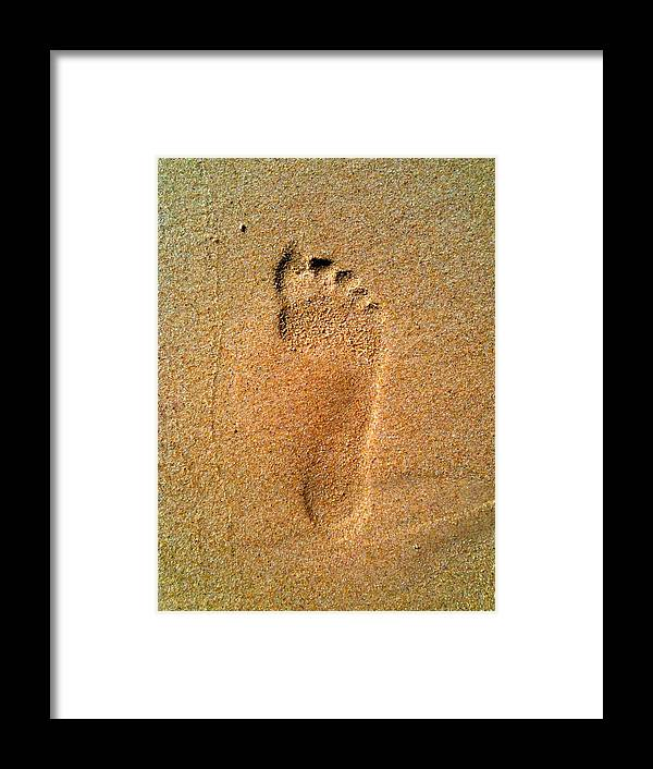 Sand Framed Print featuring the photograph Footprint by Pat Downes