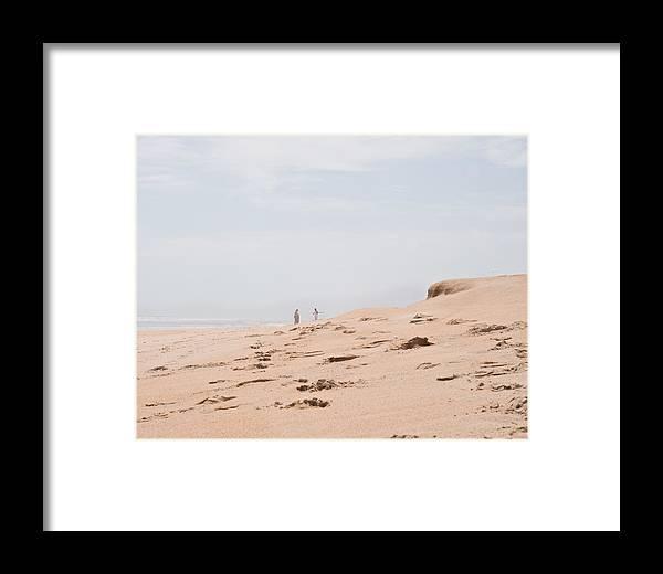 Beach Framed Print featuring the photograph Footprints 2 by Michael Schwartzberg