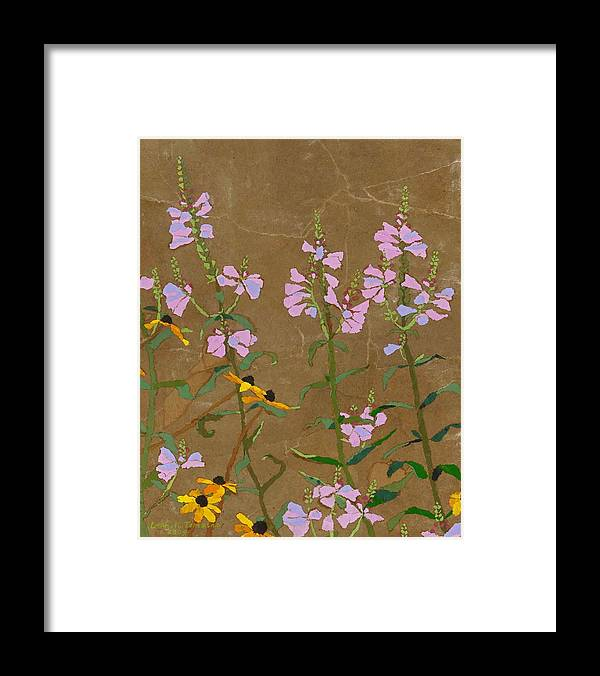 Floral Framed Print featuring the painting For Jack From Woodstock by Leah Tomaino