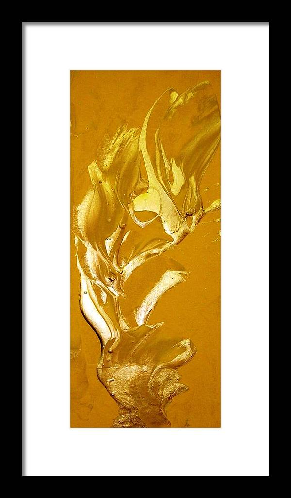 Gold Framed Print featuring the painting For Love  For All by Bruce Combs - REACH BEYOND
