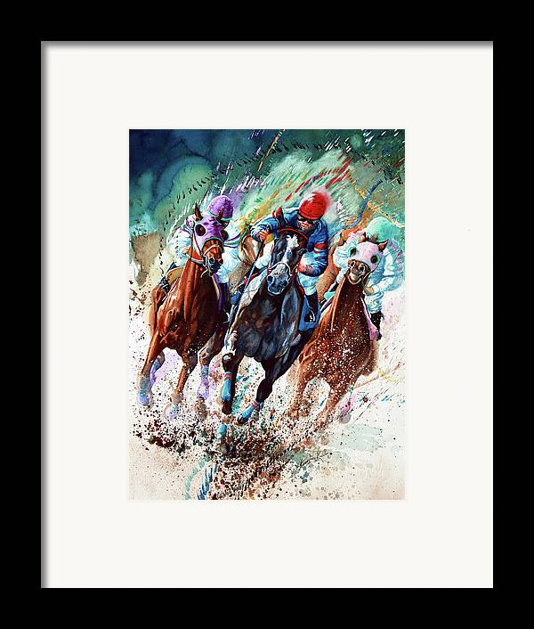 Sports Art Framed Print featuring the painting For The Roses by Hanne Lore Koehler